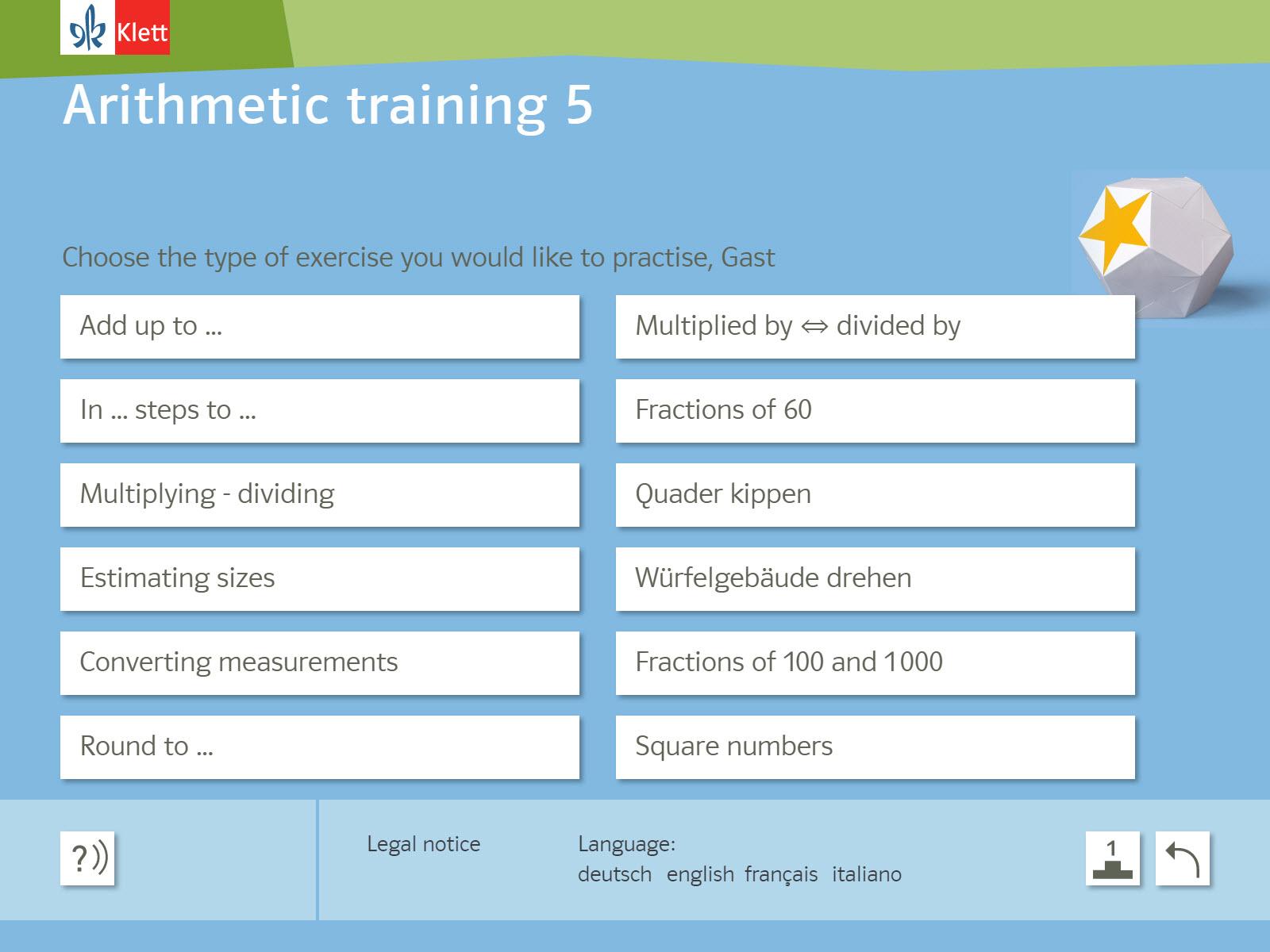 Rechentraining und Kopfgeometrie 5 Background 2
