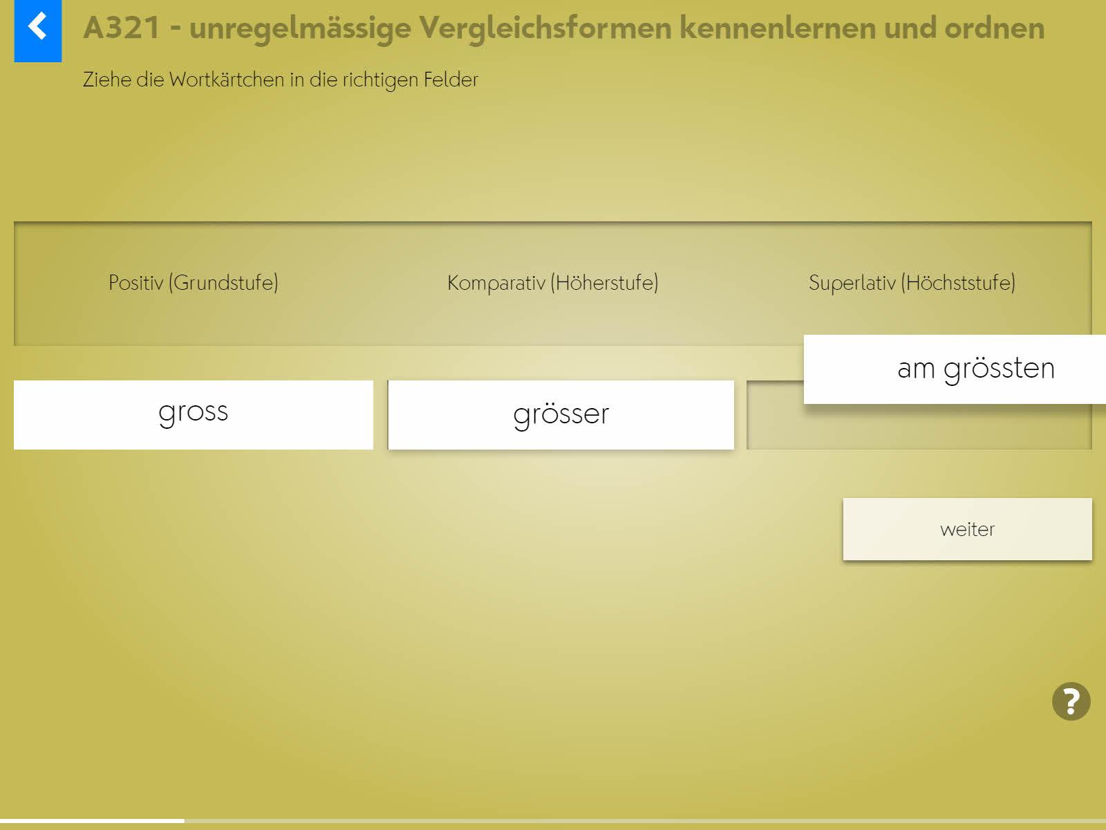 Wortgrammatik: Adjektive Background 2