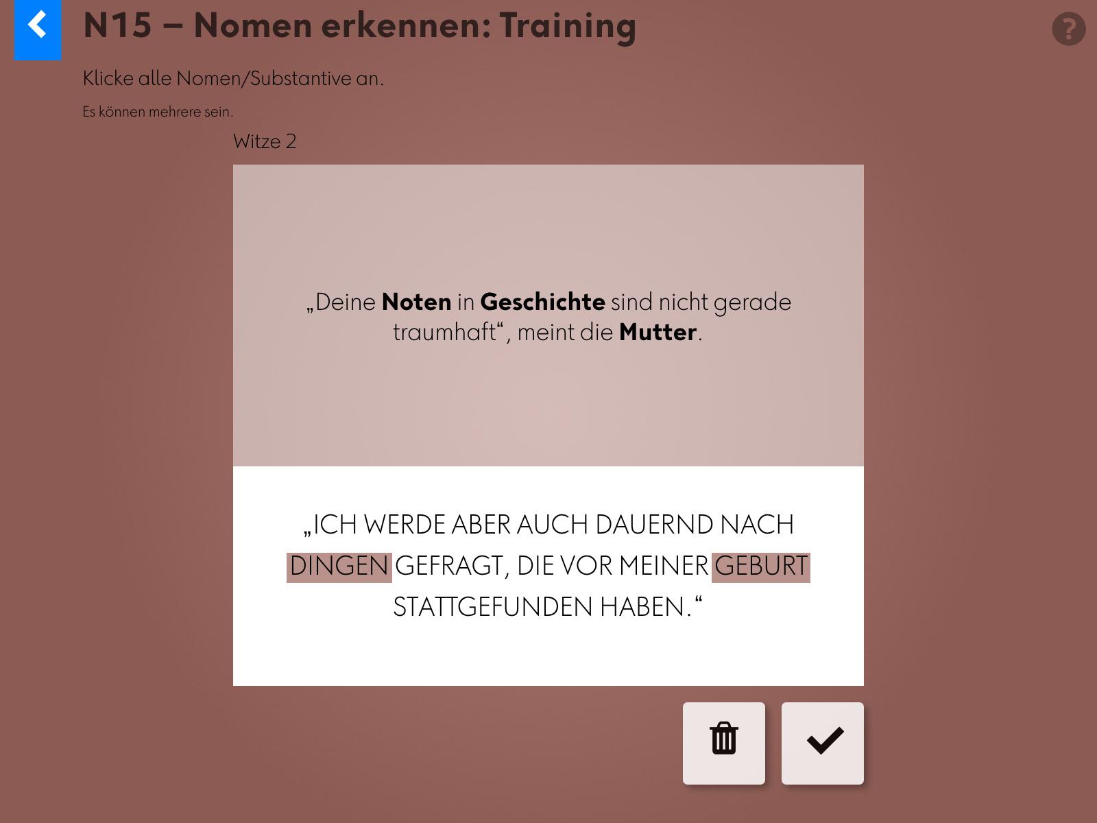 Wortgrammatik: Nomen Background 2