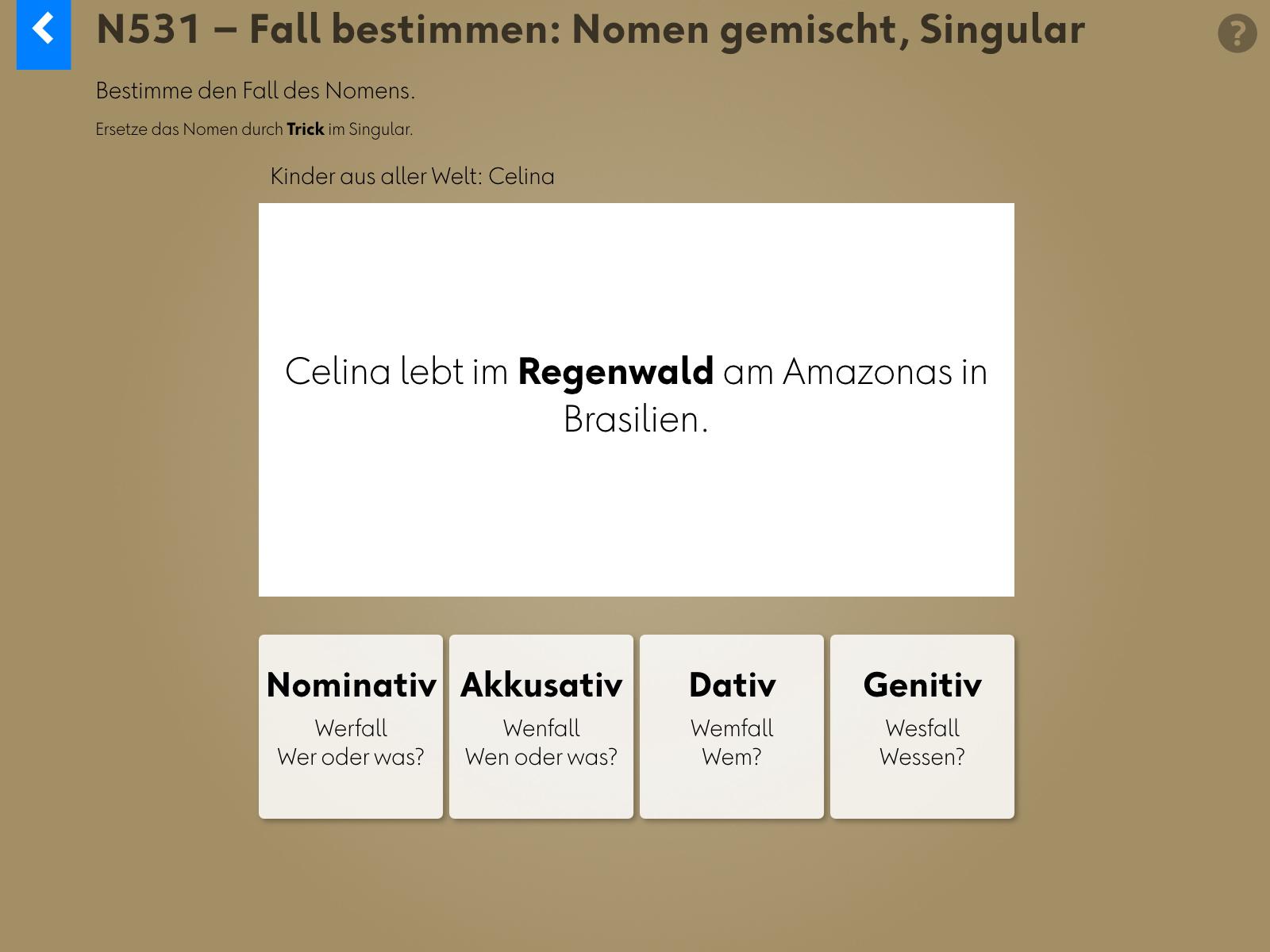 Wortgrammatik: Nomen Background 3